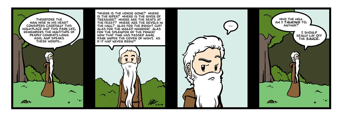 The Wanderer  Comic Strip