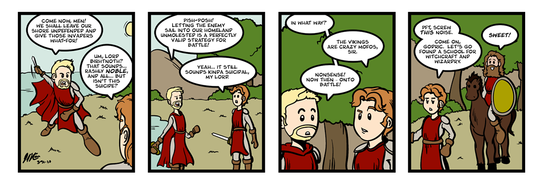 The Battle of Maldon  Comic Strip