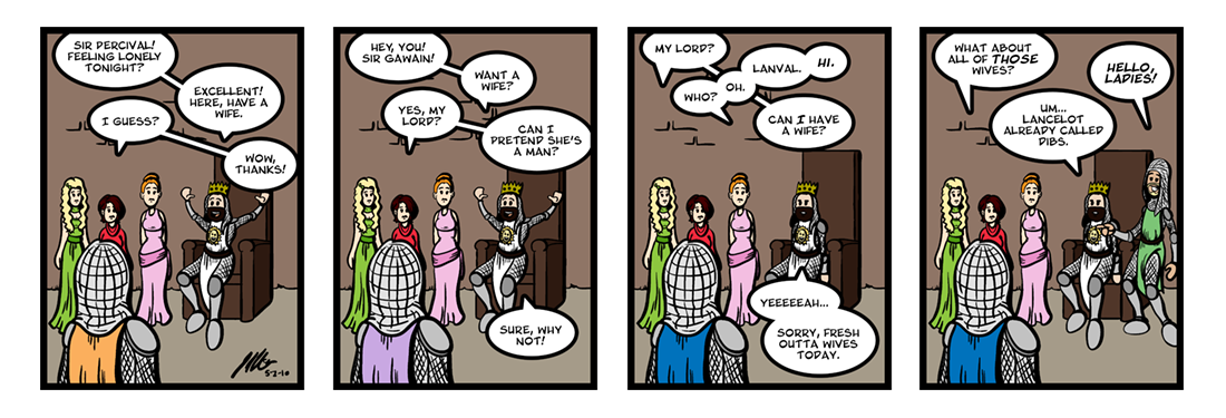 Lanval (1 of 8)  Comic Strip