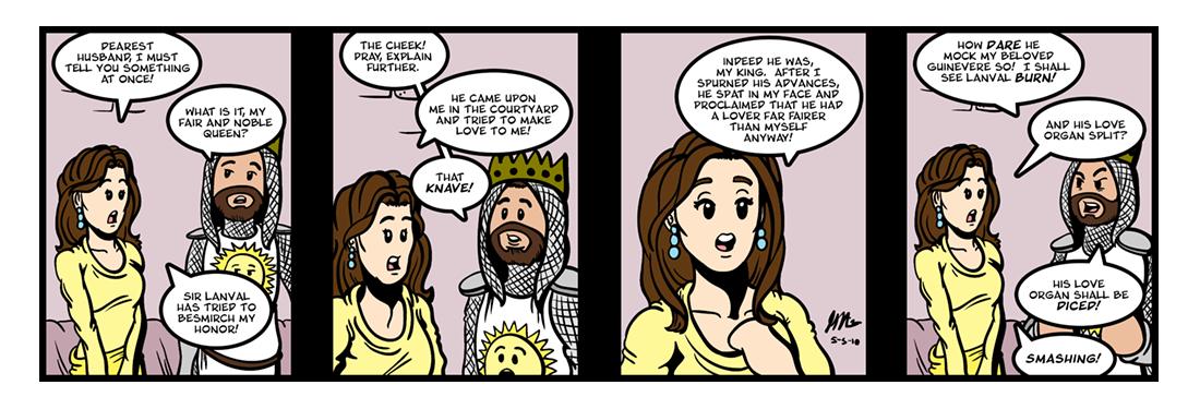 Lanval (5 of 8)  Comic Strip