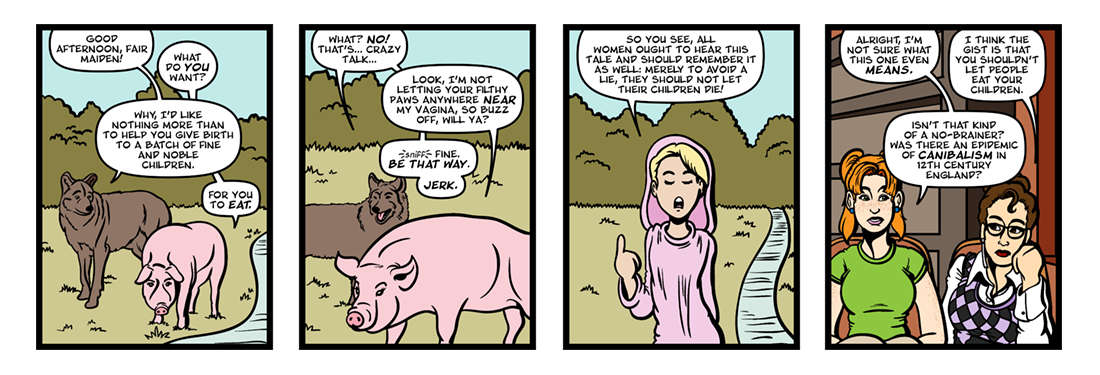 Fables: The Wolf and the Sow  Comic Strip