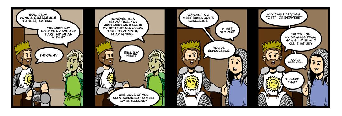 Sir Gawain and the Green Knight (3 of 20)  Comic Strip