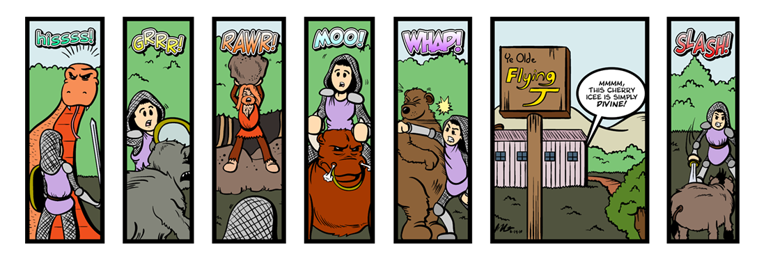 Sir Gawain and the Green Knight (8 of 20)  Comic Strip
