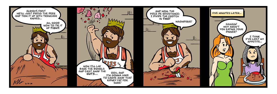 Sir Gawain and the Green Knight (13 of 20)  Comic Strip