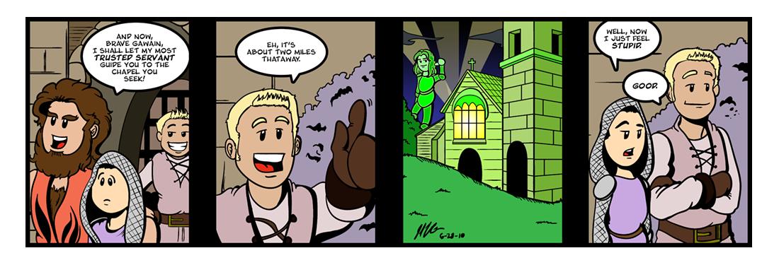 Sir Gawain and the Green Knight (17 of 20)  Comic Strip
