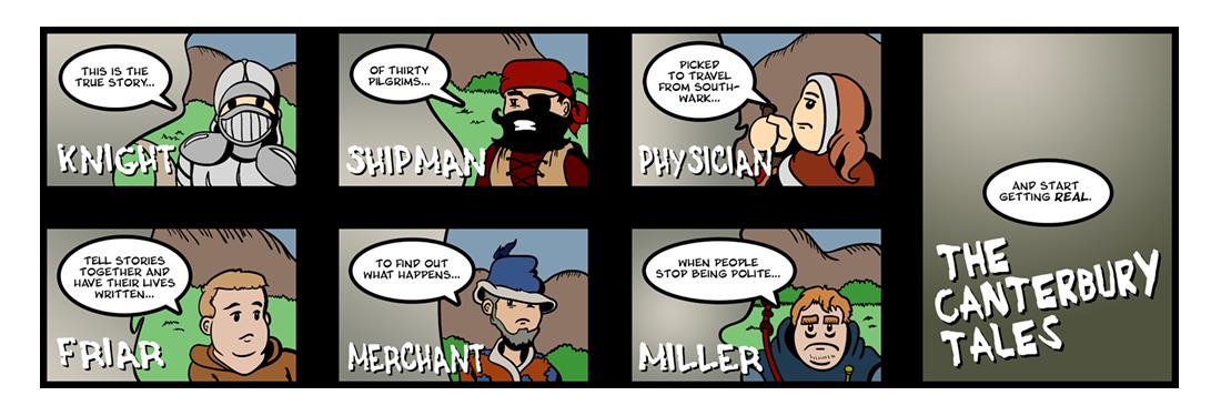 Canterbury Tales: General Prologue (2 of 4)  Comic Strip