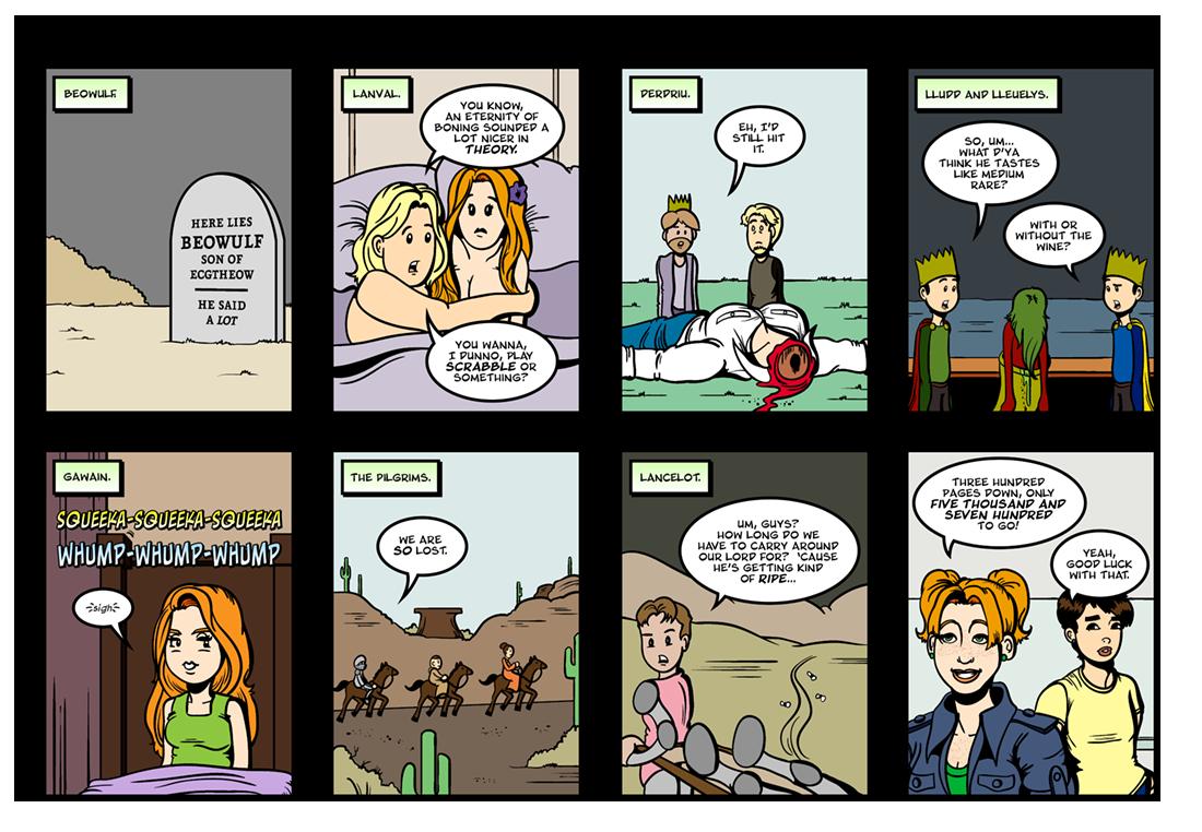 Lit Brick: Number 100  Comic Strip