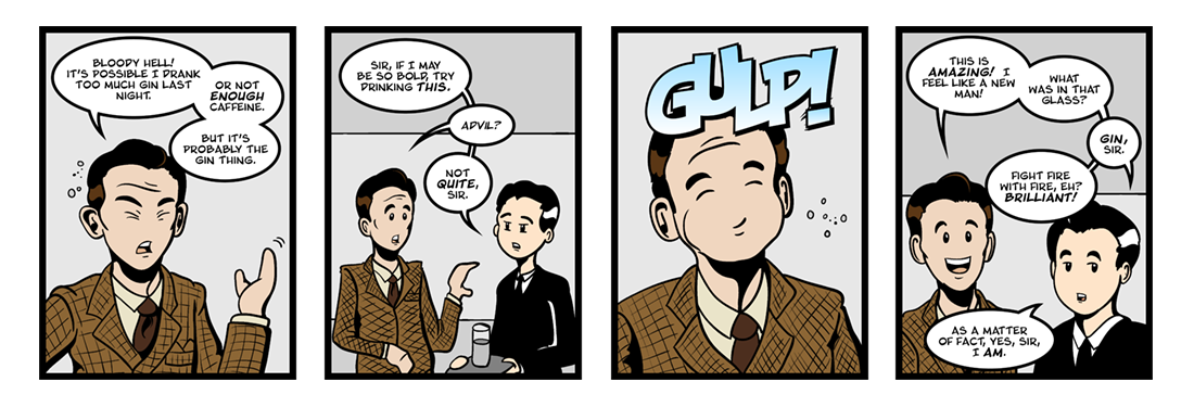 Jeeves Takes Charge (1 of 5)  Comic Strip