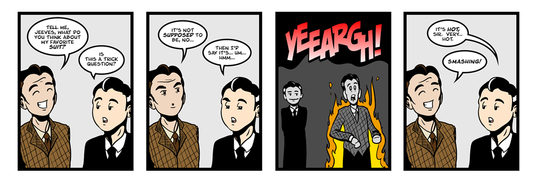 Jeeves Takes Charge (2 of 5)  Comic Strip