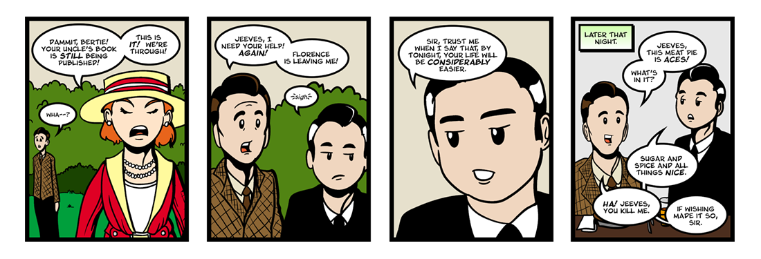 Jeeves Takes Charge (5 of 5)  Comic Strip