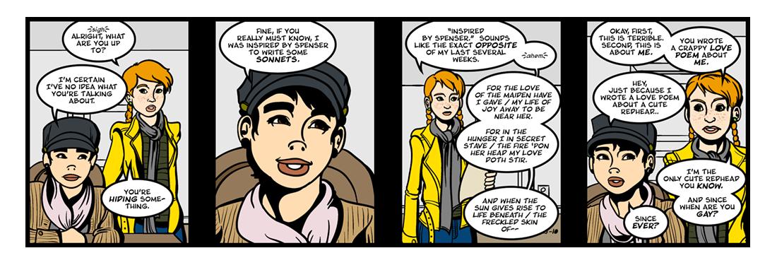 Amoretti and Epithalamion  Comic Strip
