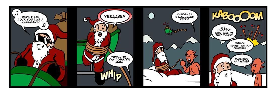 A Kidnapped Santa Claus (2 of 4)  Comic Strip