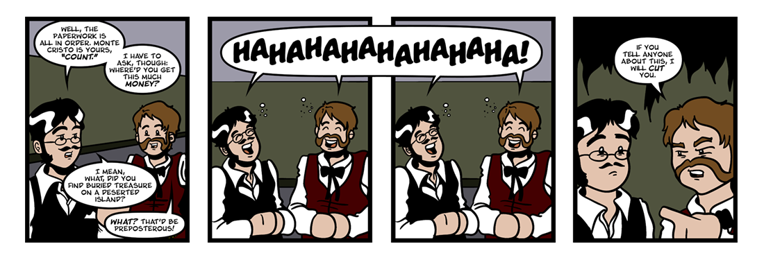 The Count of Monte Cristo  Comic Strip