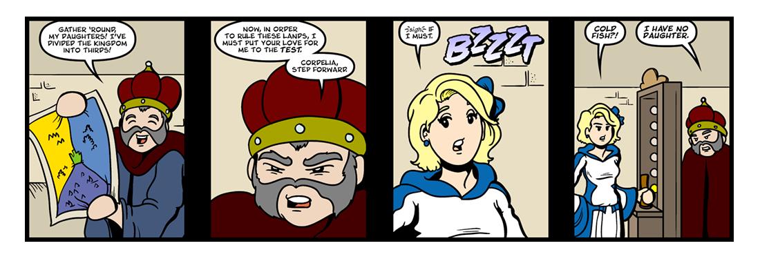 King Lear (1 of 2)  Comic Strip