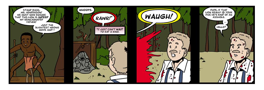 Henderson the Rain King  Comic Strip
