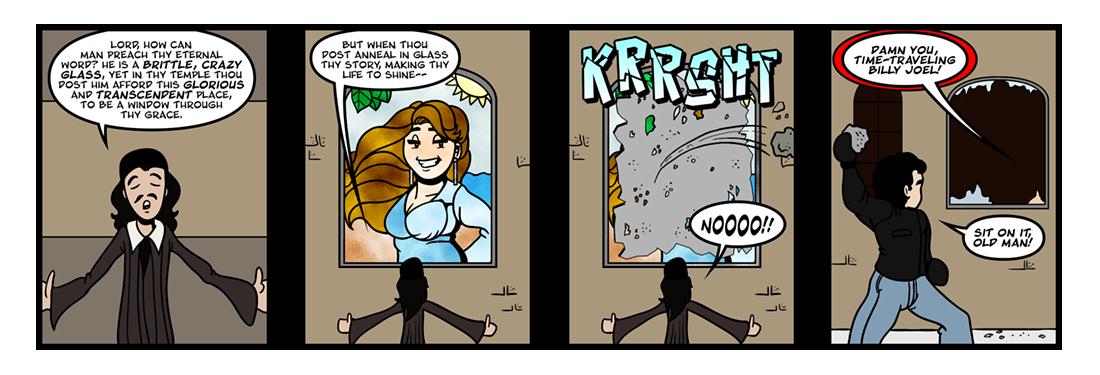 The Temple: The Windows  Comic Strip