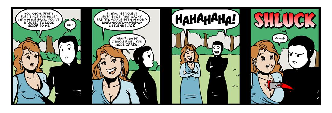 The Temple: Death  Comic Strip