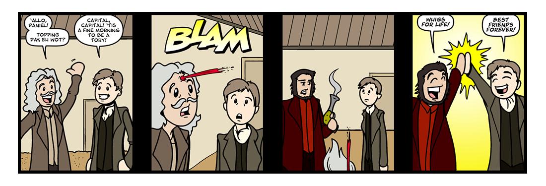 Daniel Defoe  Comic Strip