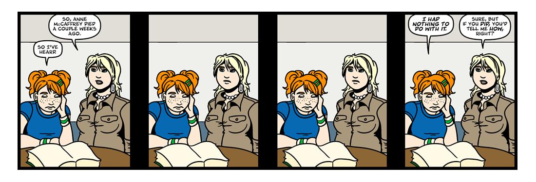 RIP Anne McCaffrey  Comic Strip