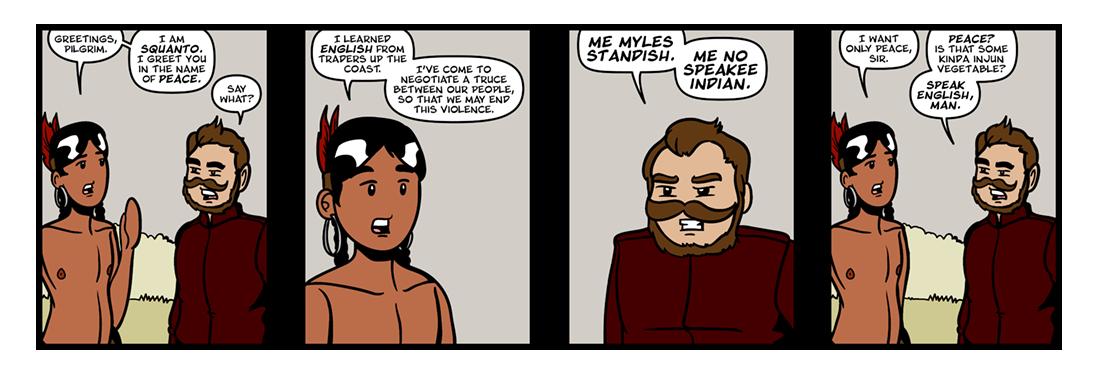 Of Plymouth Plantation, Part 7  Comic Strip