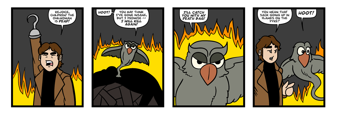 Owlwoman and Coyote, Part 4  Comic Strip
