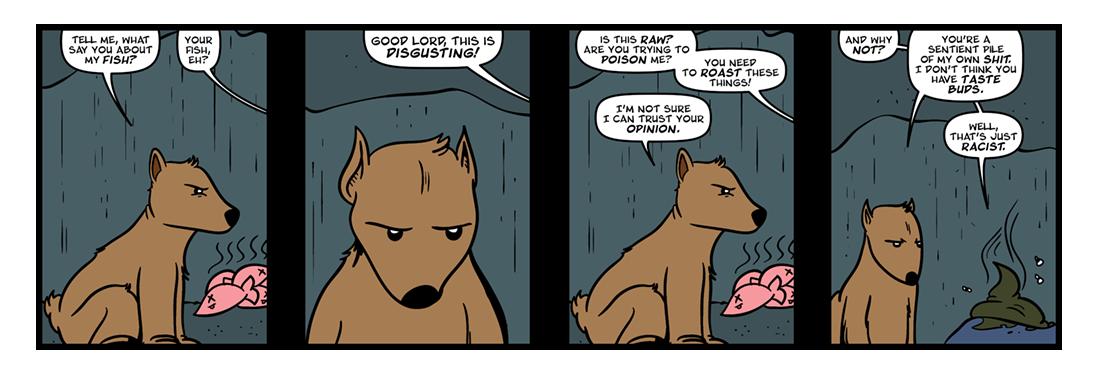 Coyote Establishes Fishing Taboos  Comic Strip