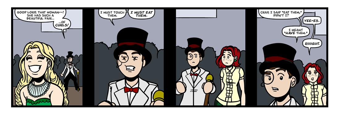 The Rape of the Lock, Part 3  Comic Strip
