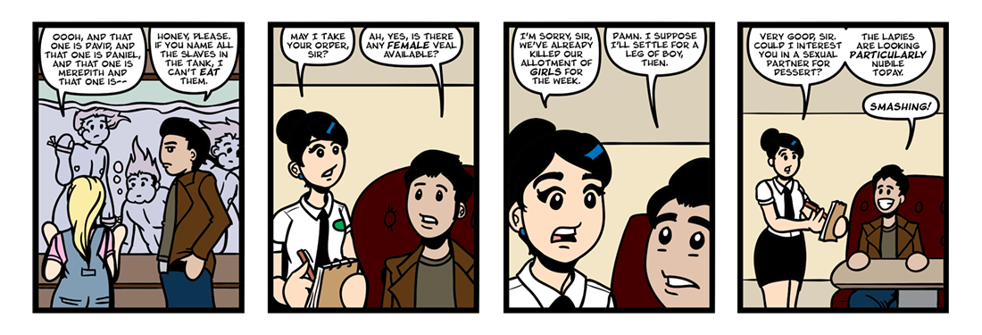 Assaulted and Pursued Chastity  Comic Strip