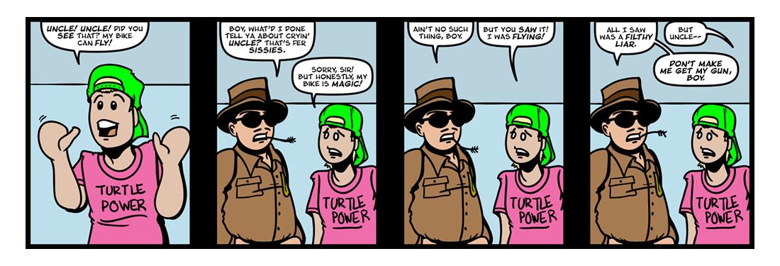 The Magic Bicycle (Part 3)  Comic Strip