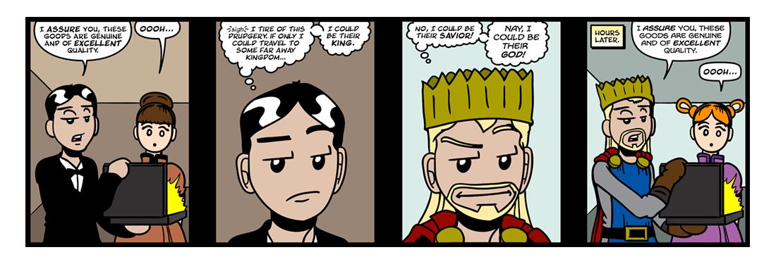 The Coronation of Mr. Thomas Shap  Comic Strip
