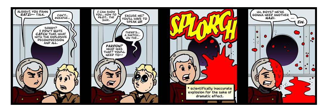Rocket Ship Galileo  Comic Strip