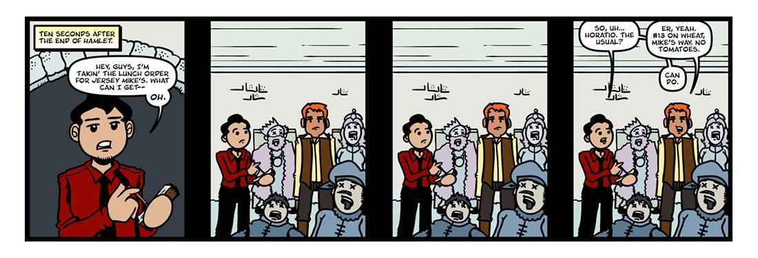 Hamlet  Comic Strip