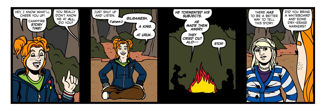 The Epic of Gilgamesh (Part 02)   Comic Strip