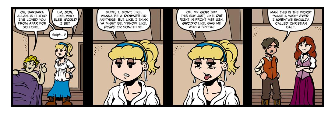 Bonny Barbara Allan  Comic Strip