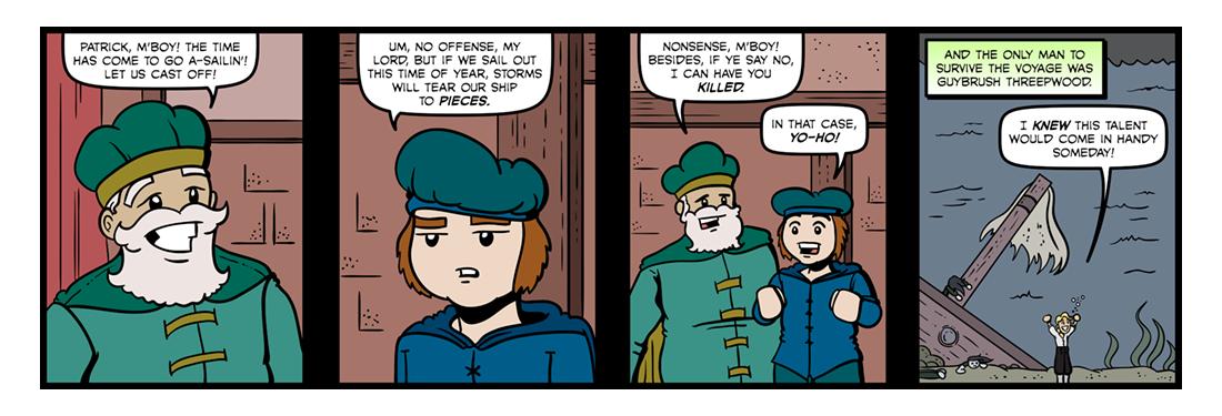 Sir Patrick Spens  Comic Strip