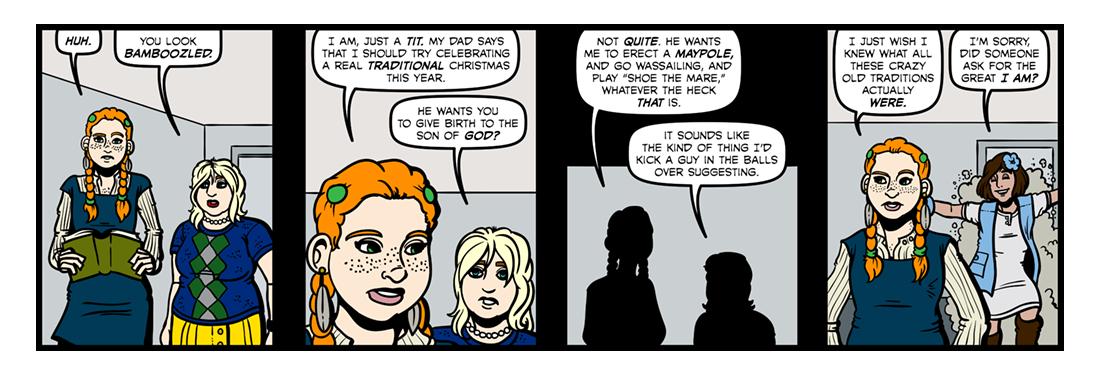 Elizabethan Christmas (Part 1)  Comic Strip