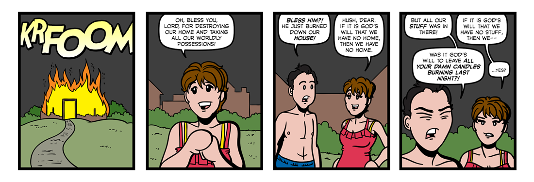 Upon The Burning Of Our House  Comic Strip