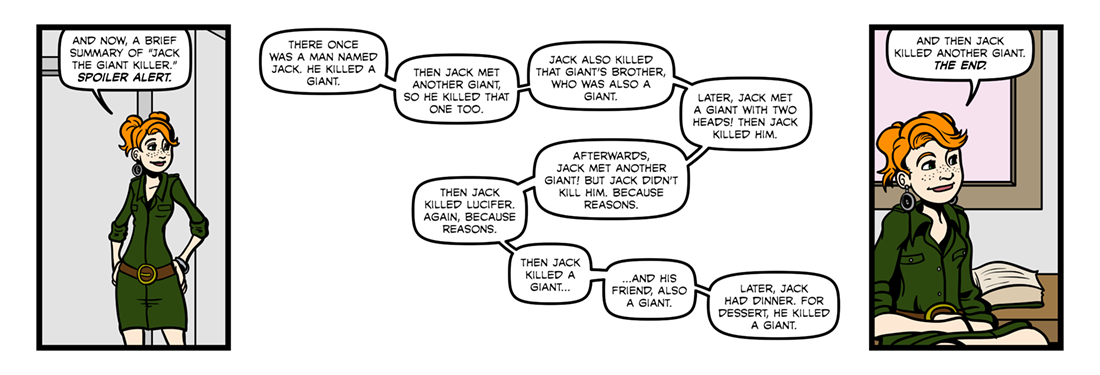 Jack the Giant Killer  Comic Strip
