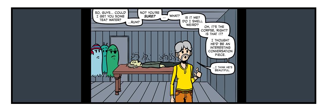 The Haunted Beach  Comic Strip