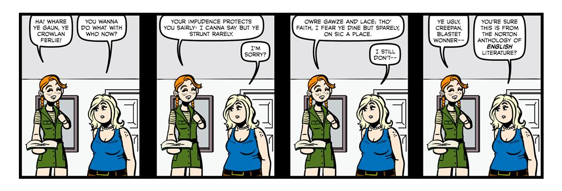 To A Louse  Comic Strip