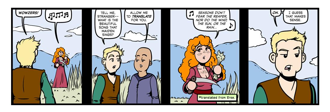 The Solitary Reaper  Comic Strip