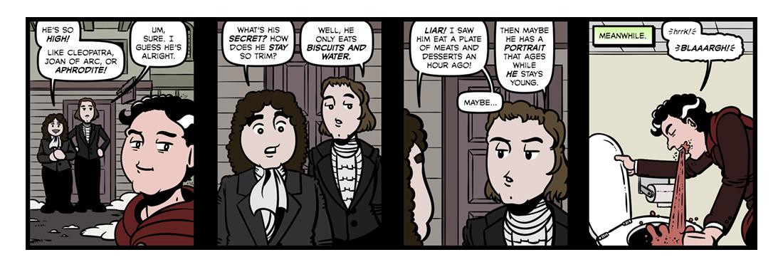 Lord Byron (2)  Comic Strip