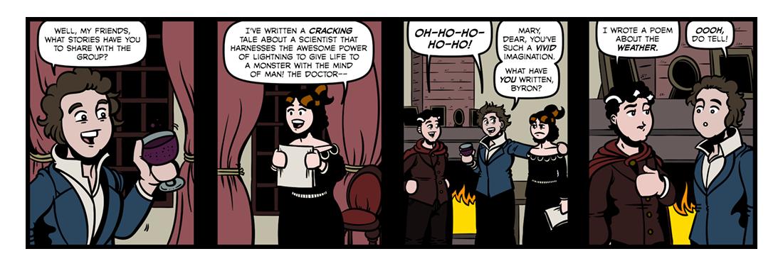 Lord Byron (3)  Comic Strip