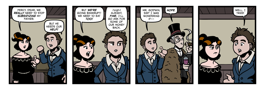 Percy Bysshe Shelley (2)  Comic Strip
