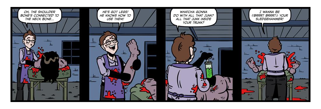Frankenstein (5)  Comic Strip