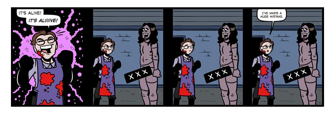 Frankenstein (6)  Comic Strip