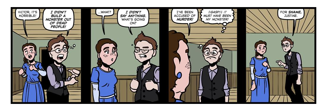 Frankenstein (8)  Comic Strip