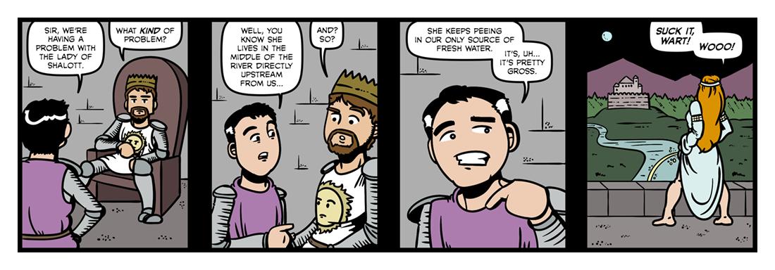 The Lady of Shalott (1)  Comic Strip