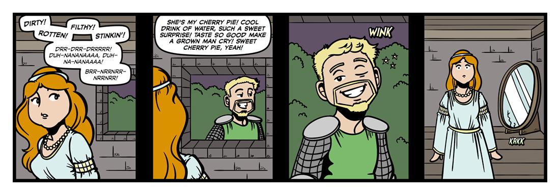 The Lady of Shalott (3)  Comic Strip