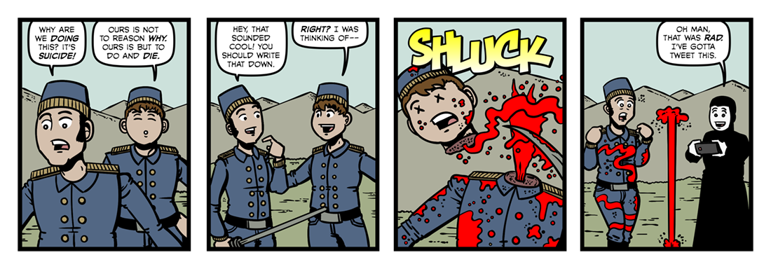 The Charge of the Light Brigade (2)  Comic Strip
